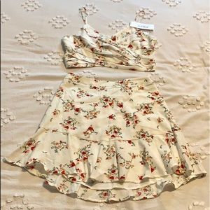Lush two piece skirt set